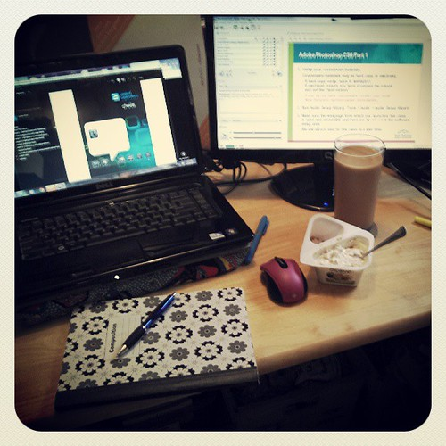 Ready for class 2 #Photoshop #training #breakfast #chobanipowered #coffee #letsdothis