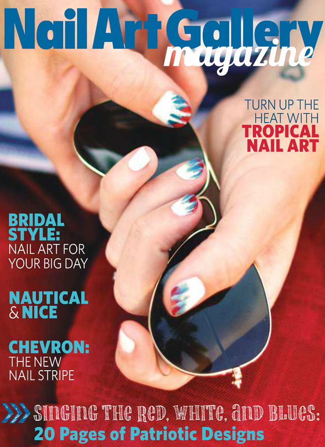 Nail Art Magazine Cover-July Nails