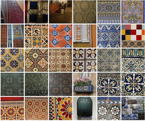 tile pattern collage