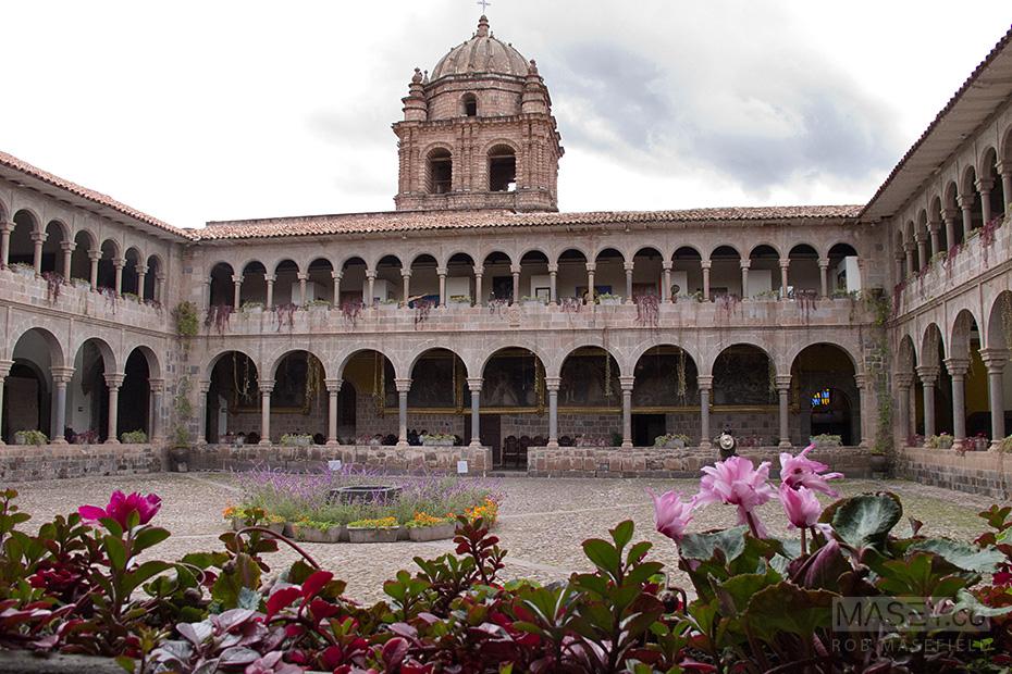 The gardens bordering Santo Domingo's inner courtyard.