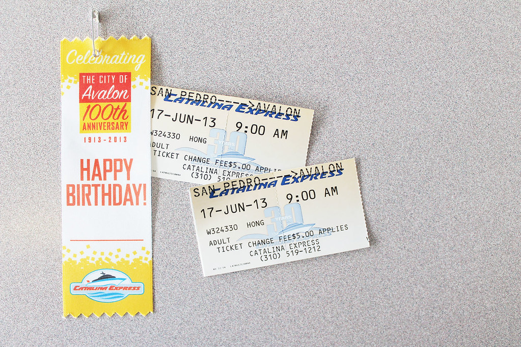 alex's birthday tickets to catalina island
