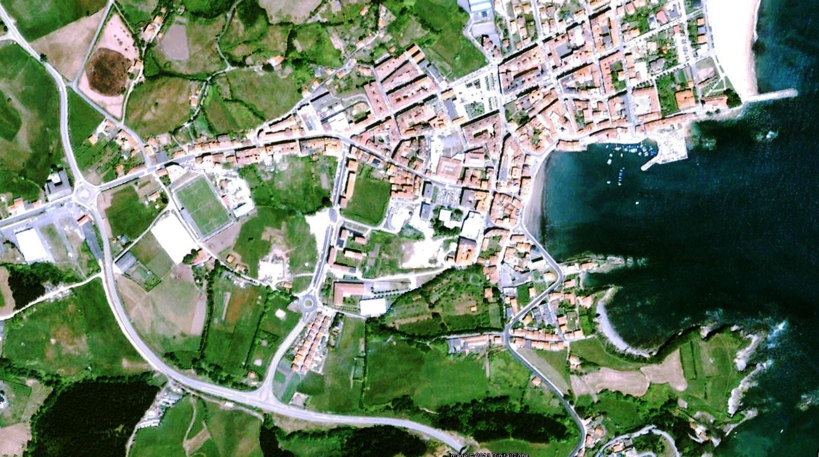 antes, urbanismo, foto aérea, desastre, urbanístico, planeamiento, urbano, construcción, Luanco, Asturias