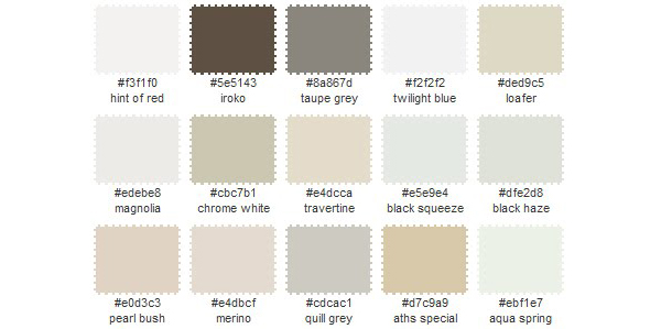 dreamy whites from the colour palette generator
