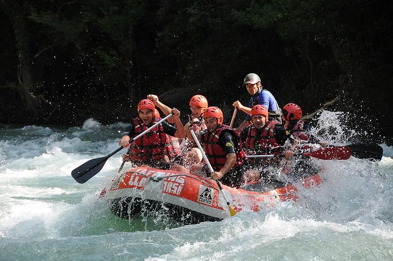 Rafting, en Llavorsí.