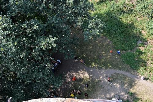 tower view peak outlook torony viewing vue kirándulás lent kilátó mecsek nyár zengő tábor csoport 2013 július alul kilátás hegység túrázás szombat hegymászás csúcs magasból alattunk fentről lefelé kilátótorony mecseki egyházközösségi gyermektábor