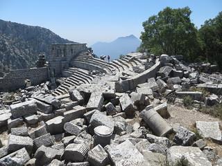 Изображение на Termessos. greek ruins theater column inscription pleiades:depicts=639139