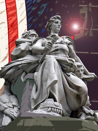 Allegorical statue of the continent of America  by Daniel Chester French NYC 2.jpg