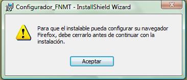 Aviso Configurador FNMT