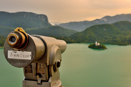 sunset castle evening nikon day cloudy telescope slovenia bled grad lakebled d600 nikond600 lakebledcastle blinkagain