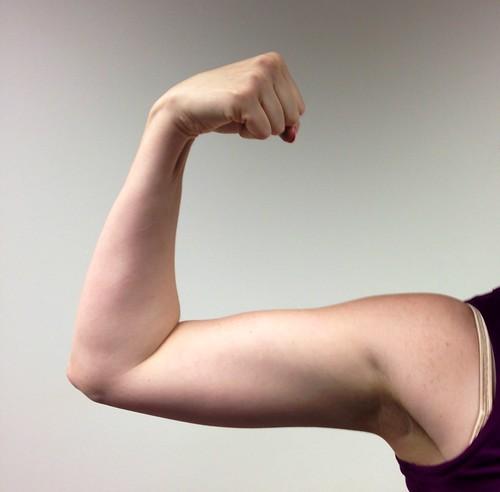 Michelle Obama arms in progress