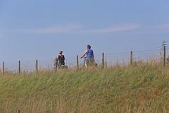 Fietsen op de dijk  /  Cycling on the dike
