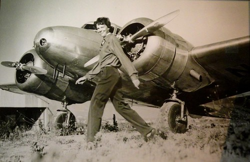 Amelia Earhart in Front of Her Lockheed Electra (1930-37)
