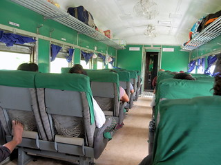 Upper Class on Train 6 - Mandalay to Thazi