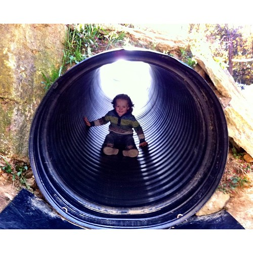 Industrial pipe mountain slide