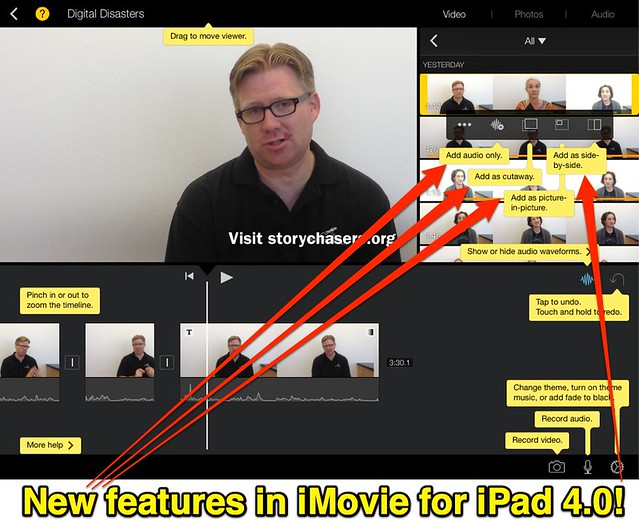 New features in iMovie for iPad 4.0