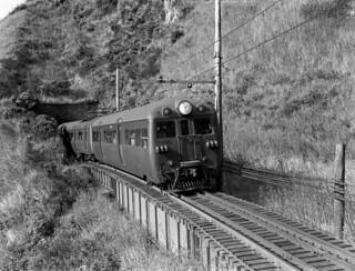 Train through tunnel