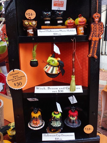 Swirly Designs Halloween Ornaments
