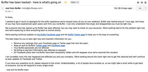 Buffer has been hacked - here is what's going on - cspenn@gmail.com - Gmail