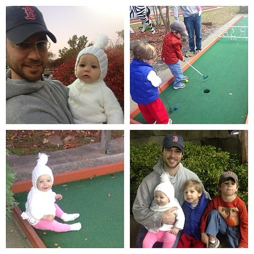First time to play putt putt as a family. Truly hilarious watching a 3 and 5 year old play!  Memories for sure.