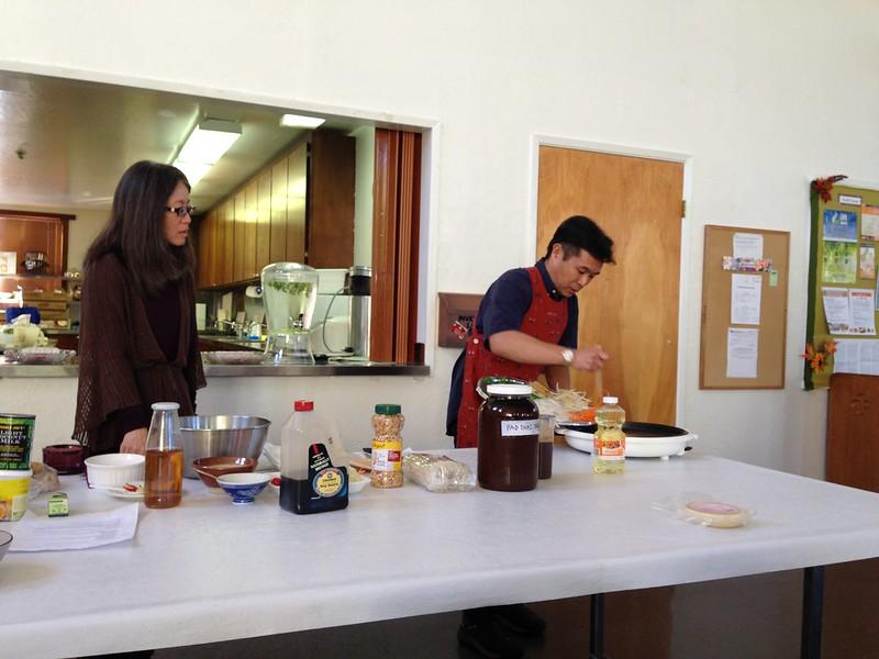 Vegetarian Thai Cooking demo