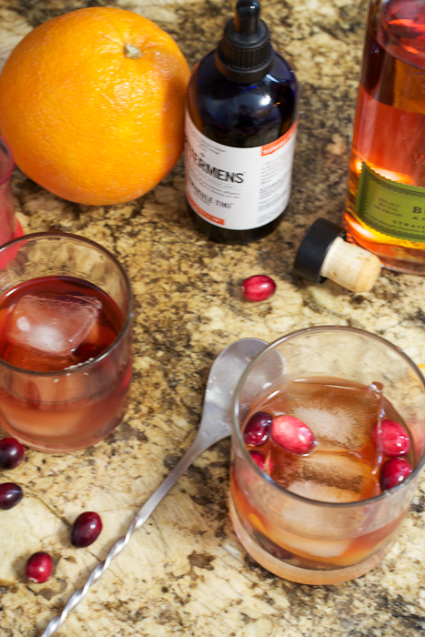 ... cocktail, why not make it seasonal and try a Cranberry Old Fashioned
