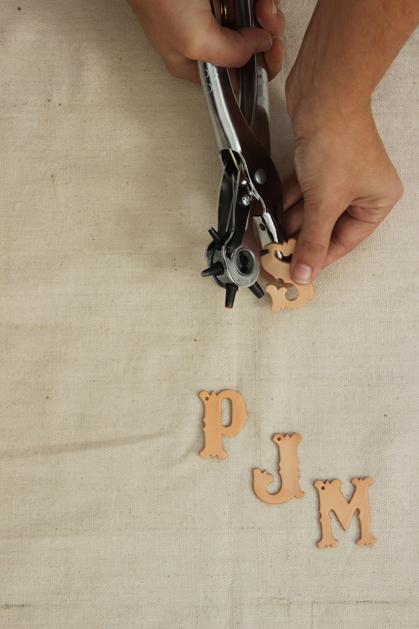 Fabric Paper Glue | DIY Leather Monogram Thanksgiving Placeholders