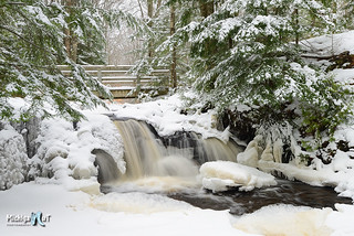 Winter Wonderland Upper Chapel Falls Pictured Rocks National Lakeshore