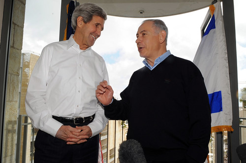 Israeli Prime Minister Netanyahu Welcomes Secretary Kerry to Snowy Jerusalem by U.S. Department of State