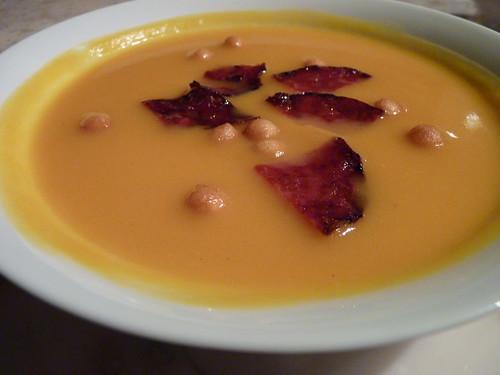 Soupe de butternut aux chips de chorizo 02