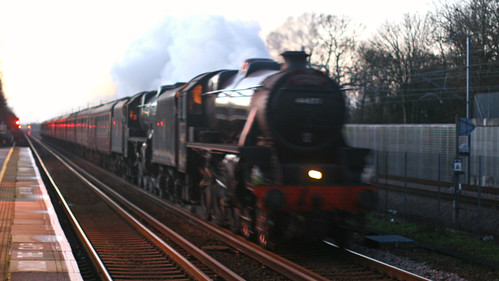 44871 and 45407, The Cathedral Express, Westenhanger, Kent 22nd December 2013