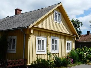 Casa caraíta en Trakai (Lituania)