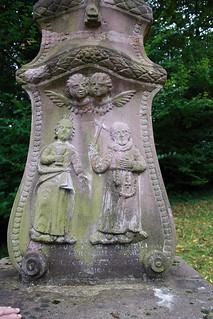 Wegkreuz in Lothringen, Detail