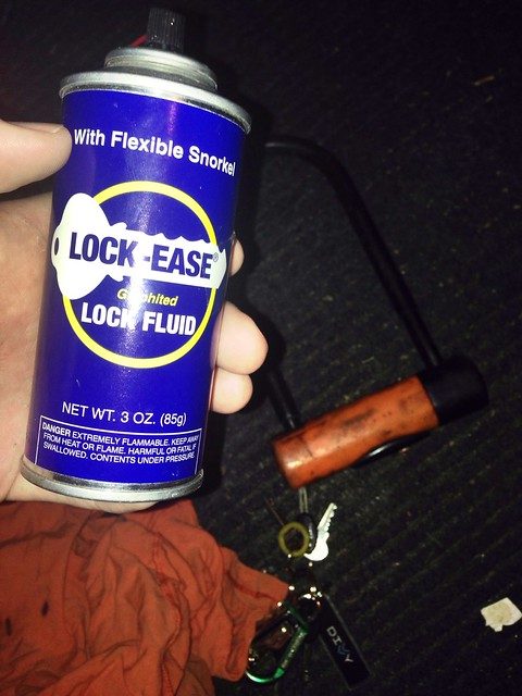 Use Lock-Ease on bike locks now to prevent trouble in the future