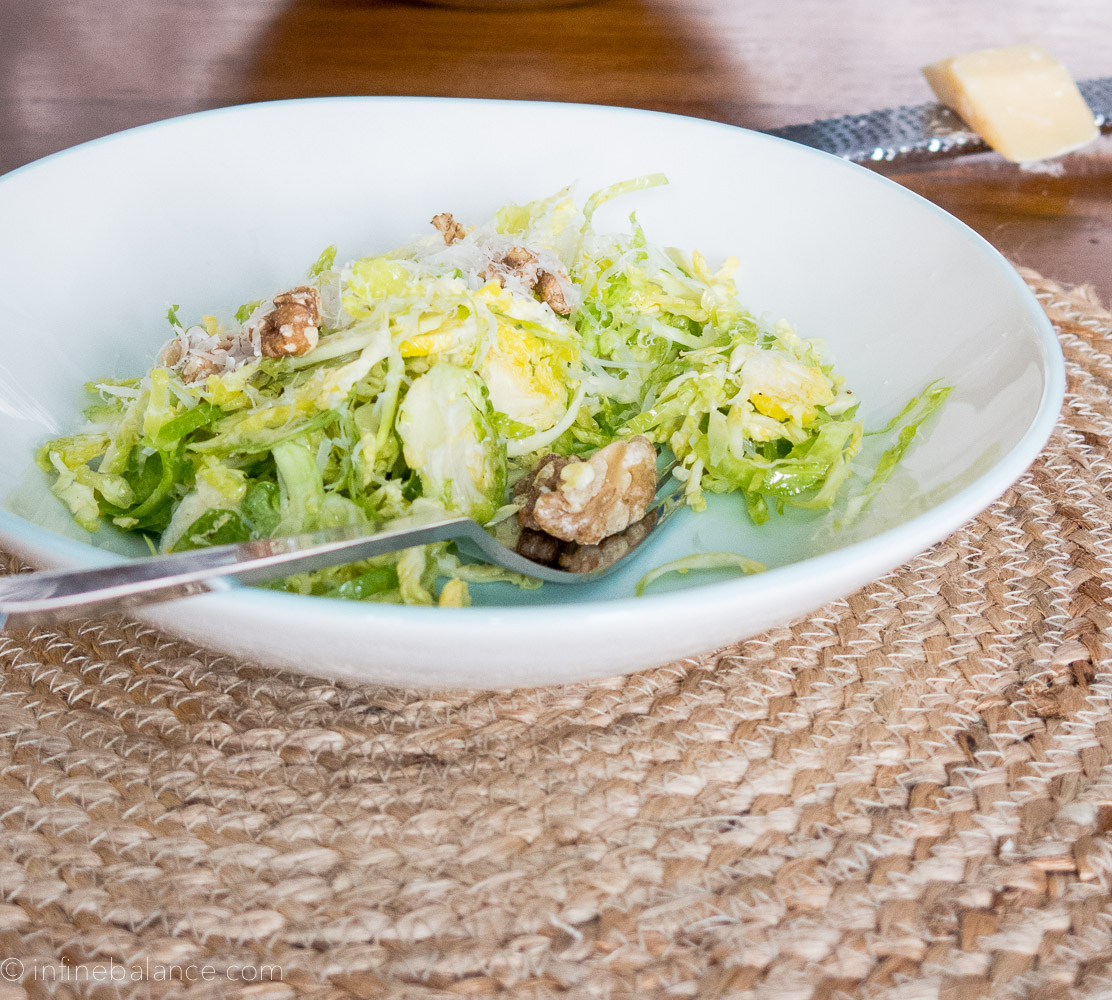 Raw Brussels Sprout Salad   www.infinebalance.com