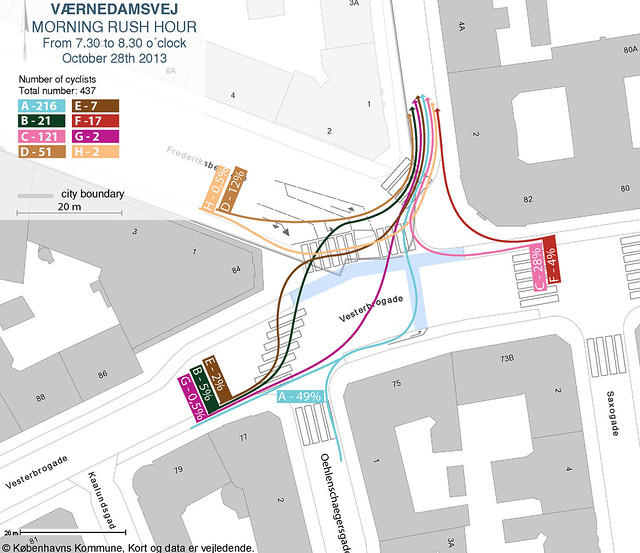 Vaernedamsvej - Vesterbrogade - come in general map
