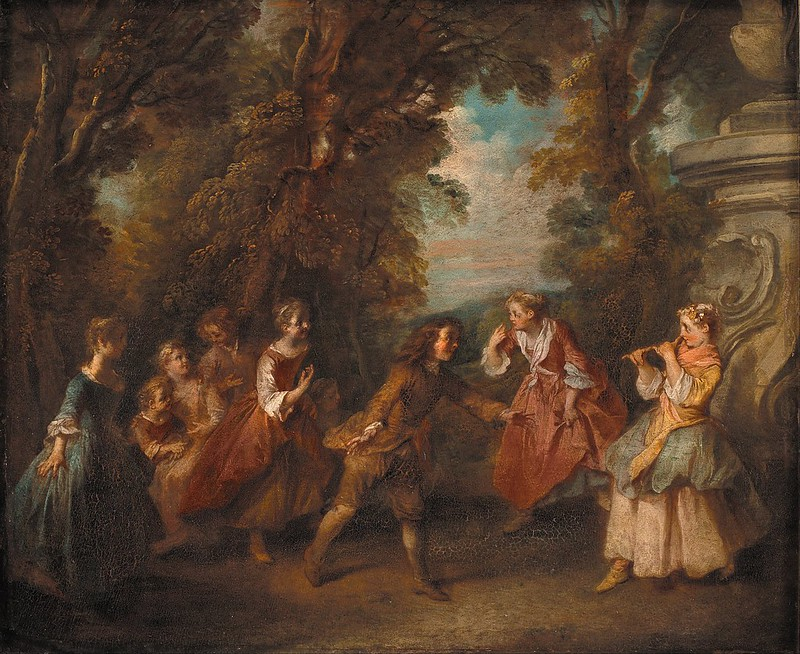 Nicolas Lancret - Children at Play in the Open (c.1730)