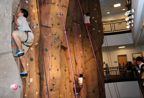 35 foot climbing wall at the ARC