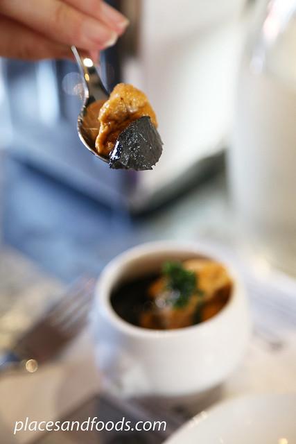 lolla sea urchin pudding black cream