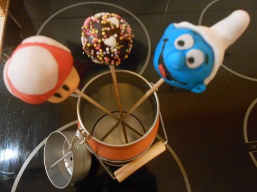 Cake pops décors pate à sucre