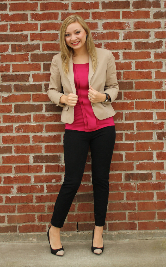 IMG_9123, goodwill blazer, thrifted blazer, charlotte russe heels, cap toe heels