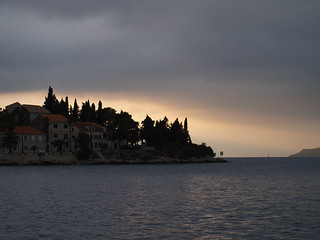 Houses near Korcula, Croatia