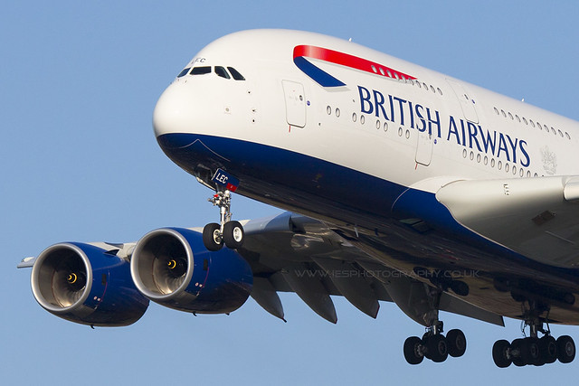 G-XLEC A380 British Airways London Heathrow