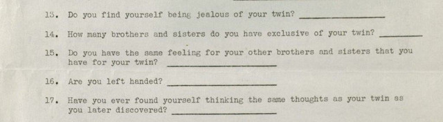 Excerpt from Dr. Gardner's multiple births survey