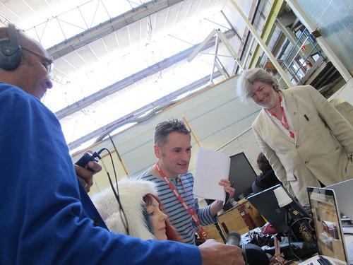 Team3 being interviewed for BBC World ServiceClick