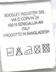 Boosley label smuggled from SIF-Tex