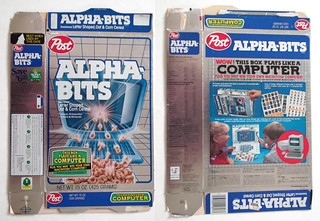 1985 Post Alpha-Bits Cereal Box Mac General Foods