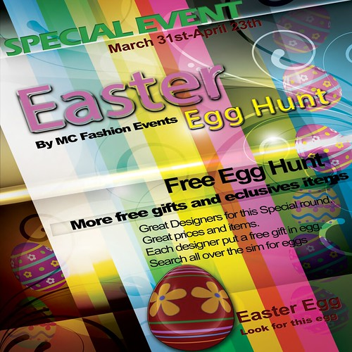 Easter HUNT EGG Events-poster