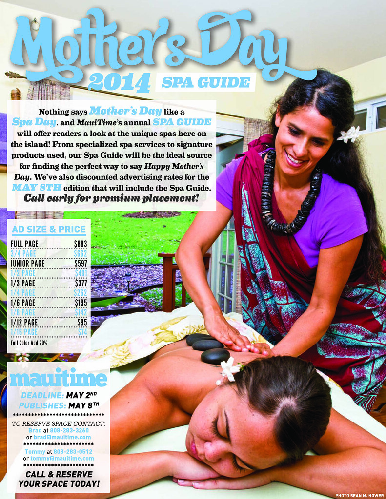 mauitime mother's day spa guide