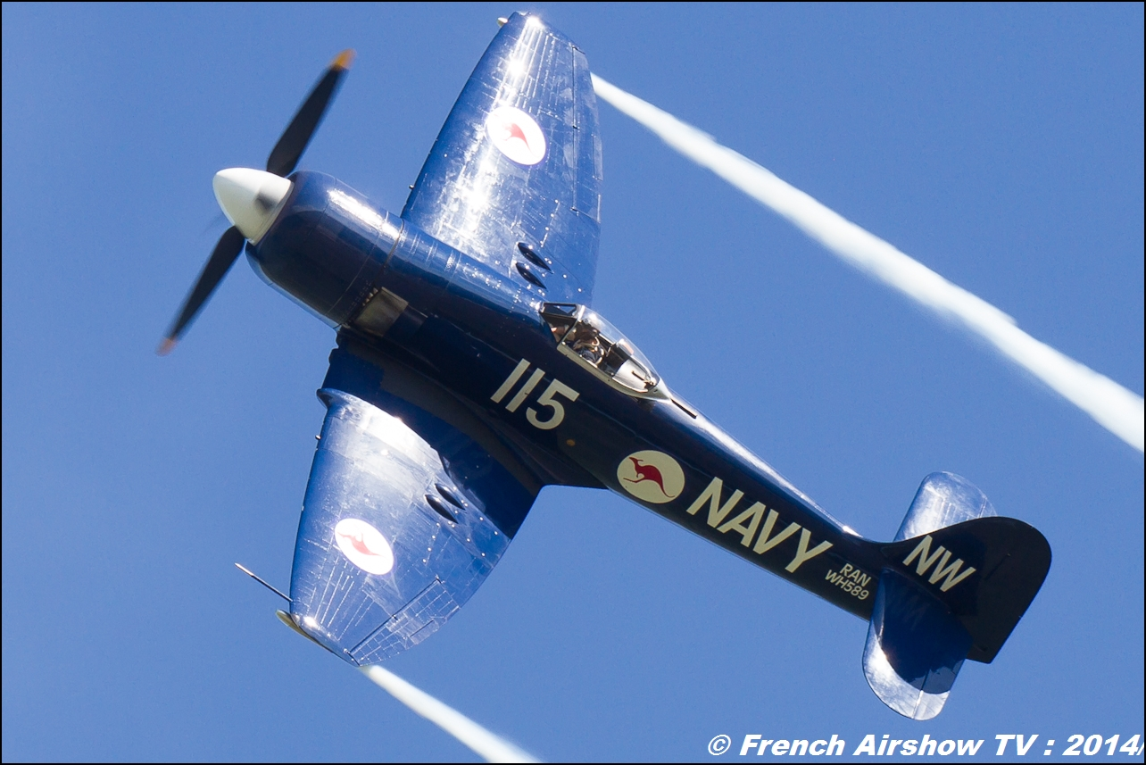Hawker Sea Fury F-AZXJ, Meeting Aerien 2014