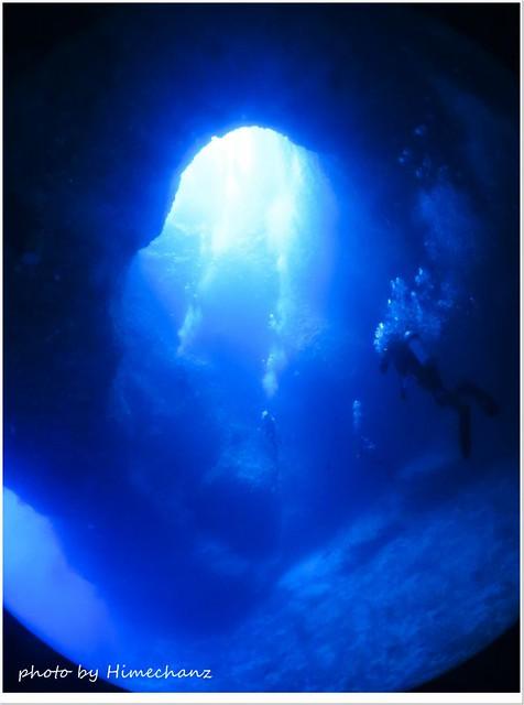 大きな洞窟ダイブ!